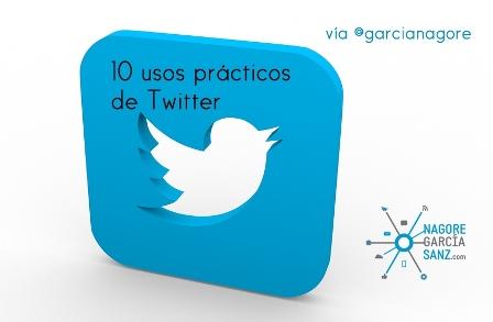 10 usos prácticos de Twitter vía @garcianagore