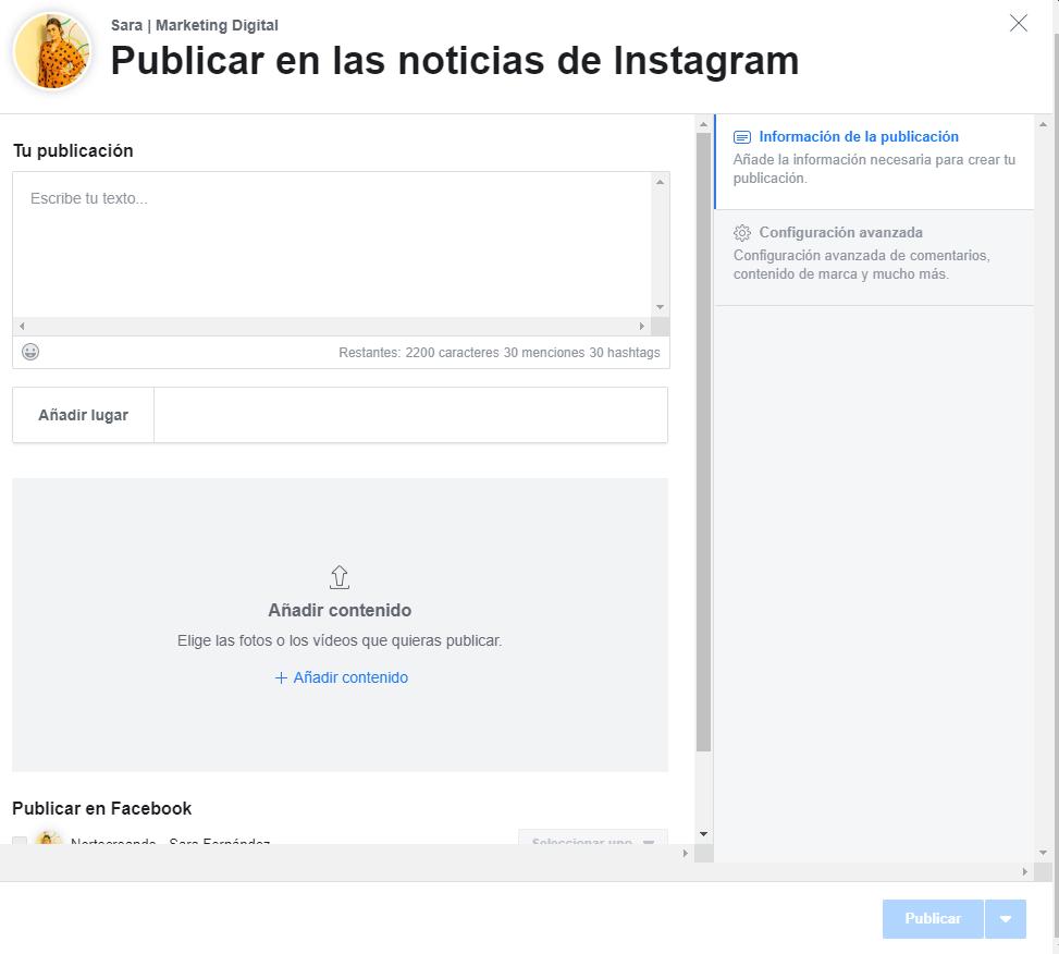 Programar redes sociales facebook Creator Studio